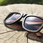 Dřevěné brýle DAWOOD – Medové bambusky